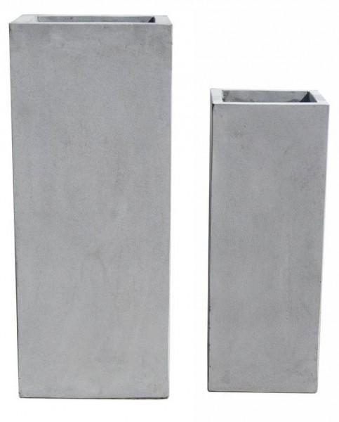 Pflanzkübel Square - Grau - 80cm x 30cm x 30cm
