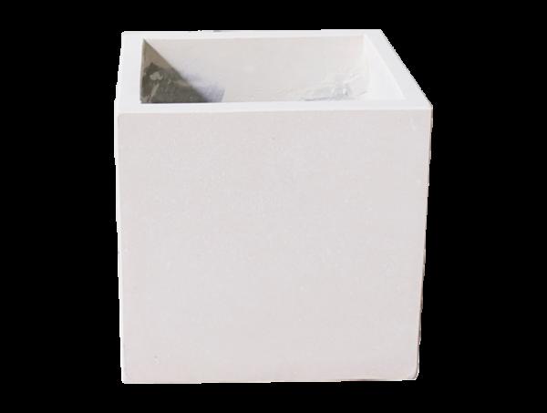 Pflanzkübel Cube - Weiß - 25cm x 25cm x 25cm